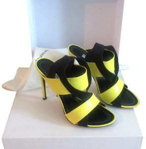Balenciaga Black and Yellow Pumps