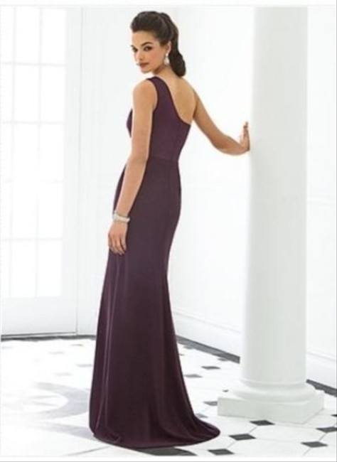 After Six Full Length One Shoulder Satin Dress