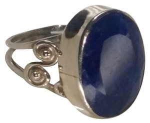 Other Sterling Silver Blue Sapphire Gemstone Ring