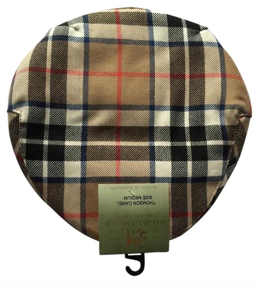 13be222b4 Lochcarron of Scotland Thomson Camel Tartan Driver Cap Hat 21% off retail