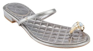 Chanel G30728 Silver Sandals