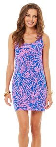 "Lilly Pulitzer short dress Blue & Purple ""SAPPHIRE BLUE ROLLIN IN THE GRASS"" Mini Short Sundress Shift on Tradesy"
