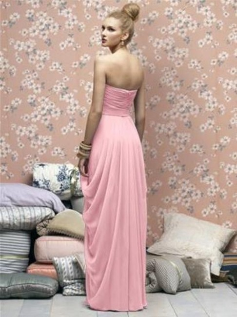 Lela Rose Full Length Strapless Chiffon Dress