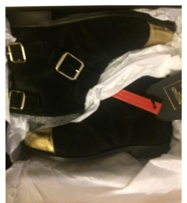 Item - Black and Gold Boots/Booties Size US 8 Regular (M, B)