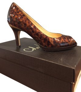 Cole Haan Comfortable Patent Leather Tortoise Shell Tortoise Patent Pumps