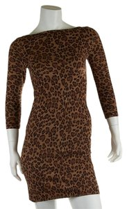 Ralph Lauren Leopard Cotton Size Xs Dress