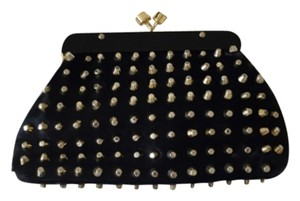 House of Harlow 1960 Black And Gold Clutch