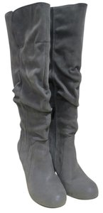 Wendi Faux Leather Grey Boots