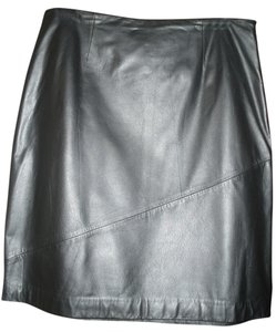 Ann Taylor LOFT Leather Skirt Black