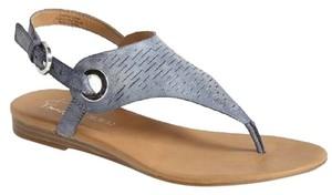Franco Sarto Leather Grip 4 Blue Sandals