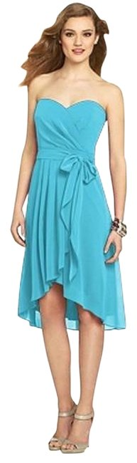 Item - Turquoise 8131 Mid-length Cocktail Dress Size 2 (XS)