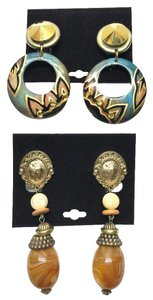 Other Vintage Earring Duo ( Clip - Non-Pierced) [ Roxanne Anjou Closet ]