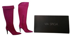 Via Spiga Suede Boot Purple / magenta Boots