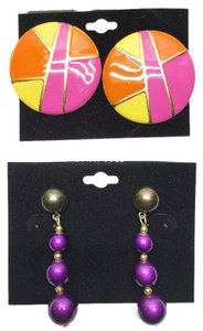 Other Vintage Earring Duo ( Pierced / Non-Pierced Convertible) [ Roxanne Anjou Closet ]