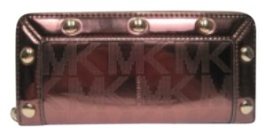 Michael Kors Michael Kors Continental Zip Around Wallet/Clutch - Cocoa Mirror Metallic