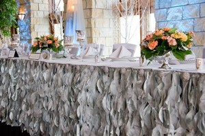 2 17ft Romantic Table Skirt (available In Multiple Sizes And Colors) Wedding Event Party Tablecloth Bridal Shower Baby