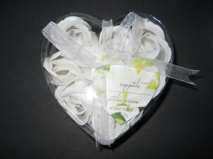 Body Luxuries Ivory For Cecelia- - White Orchid Soap Petals Wedding Favors