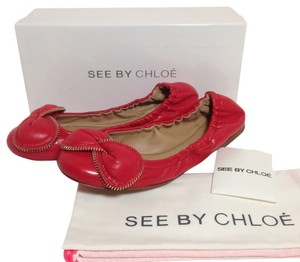 See by Chloé Red Flats