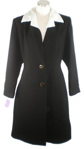 Miu Miu Crepe Wool Career Detachable A-line Flared Trench Coat