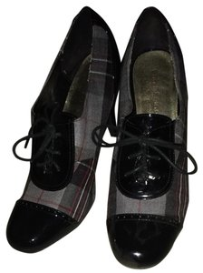 Ann Marino Black/Plaid Sandals