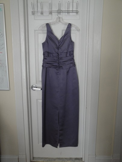 David's Bridal Purple / Lilac Polyester But Looks Like Satin 81047 Formal Bridesmaid/Mob Dress Size 8 (M) Image 1