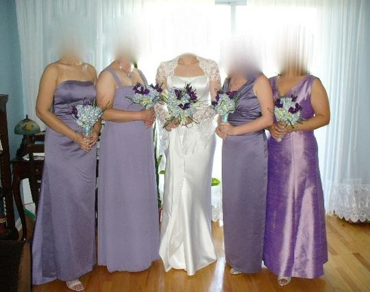 David's Bridal Purple / Lilac Polyester But Looks Like Satin 81047 Formal Bridesmaid/Mob Dress Size 8 (M) Image 2