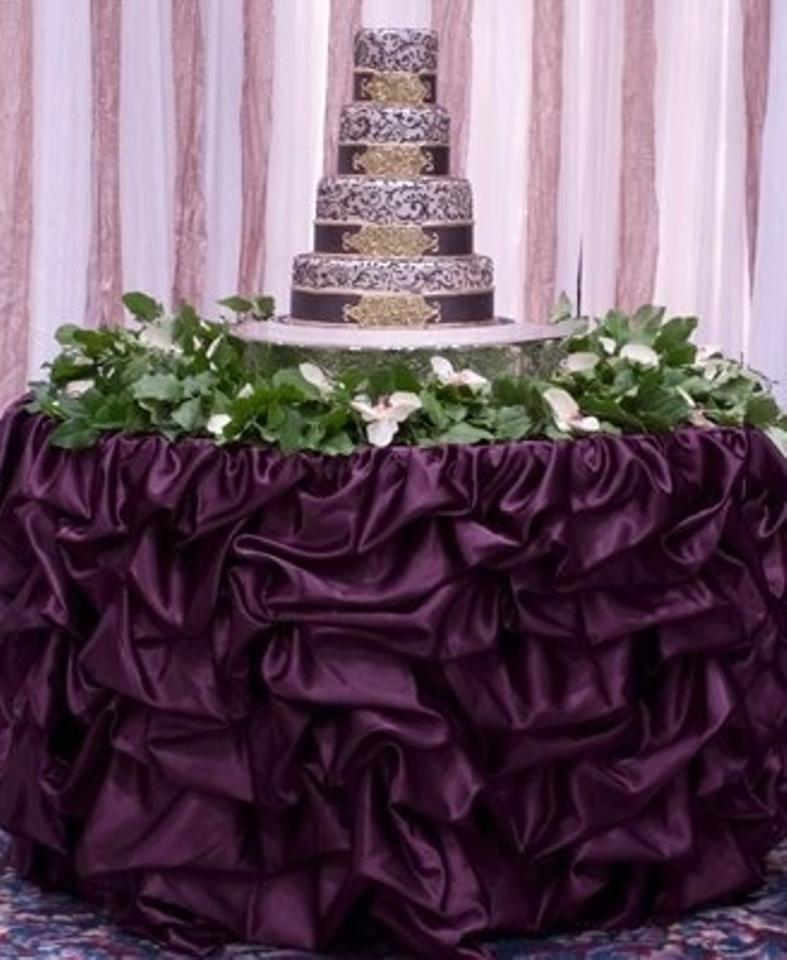 your choice 14ft table skirt available in multiple sizes and colors event party bridal