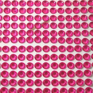 Hot Pink 10 Sheets - Bling Bling 5040pcs - 6mm Self Adhesive Rhinestone Crystal Bling Stickers Round Vase Centerpiece