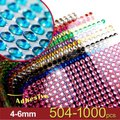 Blue 10 Pieces - Bling 5040x 6mm Self Adhesive Rhinestone Crystal Bling Stickers Round Centerpieces Vase Wedding Image 1