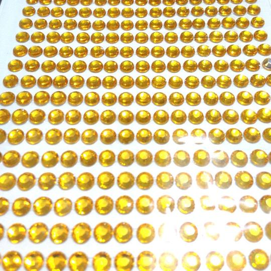 Gold 10 Pieces - Bling 5040pcs 6mm Self Adhesive Rhinestone Crystal Bling Stickers Round Centerpieces Vase Wedding