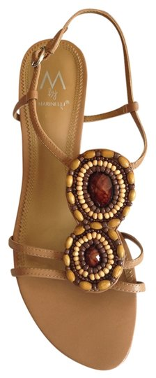 M by Marinelli Beaded Tan Sandals