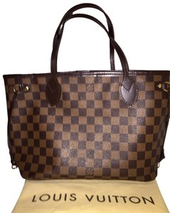 Louis Vuitton Neverful Shoulder Tote in Damier Ebene