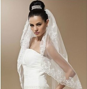 New!!! 2t Tulle Lace Edge Embroider Wedding Veil