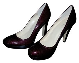 Calvin Klein Burgandy / Black Pumps