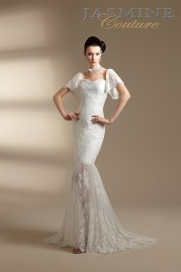 Jasmine Couture Bridal New With Tags Style T142019 Wedding Dress