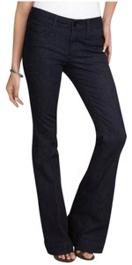 Black Orchid Jeans Stretch Mid-rise Lightweight Flare Pants ink blue