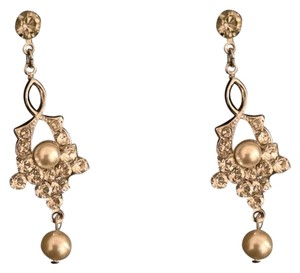 Lulusplendor Swarovski Crystal/Pearl Earrings