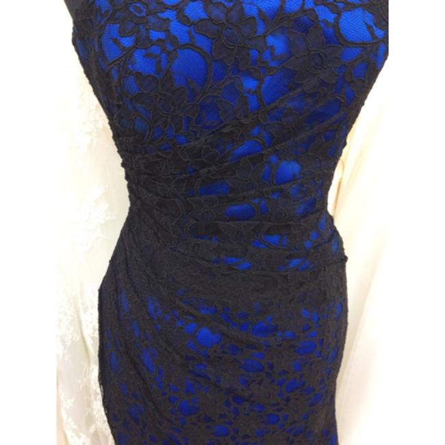 Item - Black and Blue Lace Formal Bridesmaid/Mob Dress Size 10 (M)