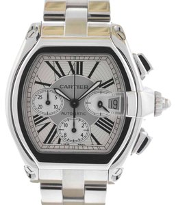 Cartier Cartier Roadster Chronograph Stainless Steel Silver Dial Watch
