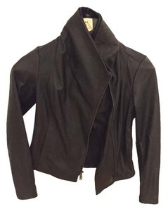 Vince Vintage Leather black Leather Jacket