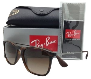 Ray-Ban New RAY-BAN Sunglasses RB 4187 856/13 54-18 Rubber Havana w/ Brown Gradient lens