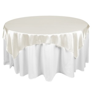 72 X 72 Satin Ivory Table Topper Overlay (set Of 20)
