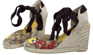 Coach Brown/Ivory/Red/Yellow Sandals
