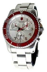 Victorinox * Victorinox Maverick GS Red Dial Stainless Steel Mens Watch