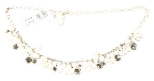 Laura Gibson Laura Gibson 925ss White Freshwater Pearl, Quartz, Pink Ribbon Breast Cancer Necklace