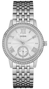 Guess Guess Women's Silver Tone Analog watch U0573L1
