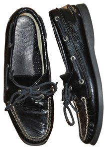 Sperry Patent Leather Casual Comfort Black Mules