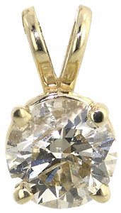 ABC Jewelry 1ct Brilliant cut diamond pendant. All 14Kt yellow gold pendant # 587723