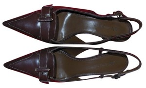 Anne Klein Slingback Brown Pumps