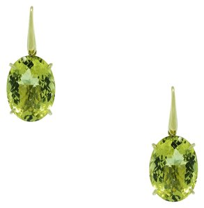 Roberto Coin Roberto Coin 18k Yellow Gold Lemon Quartz Earrings